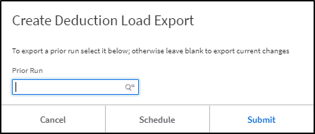 Create Deduction Load Export