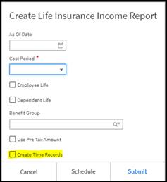 Create Life Insurance Income Report